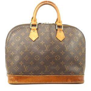 Auth Louis Vuitton Alma Satchel Bag #931L15